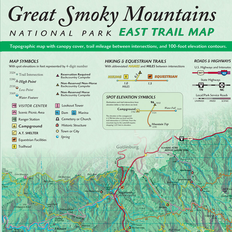 Great Smoky Mountains GPS and GeoPDF Pack