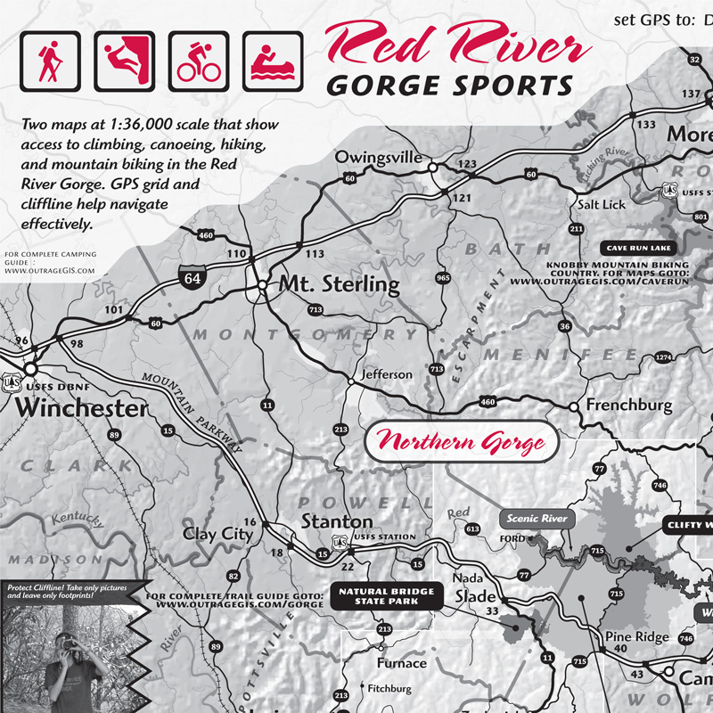 Red River Gorge Sports Map