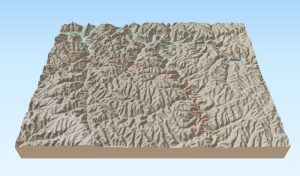 Swift Camp Creek Trail interactive 3d map