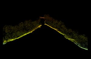 Natural Bridge profile from point cloud