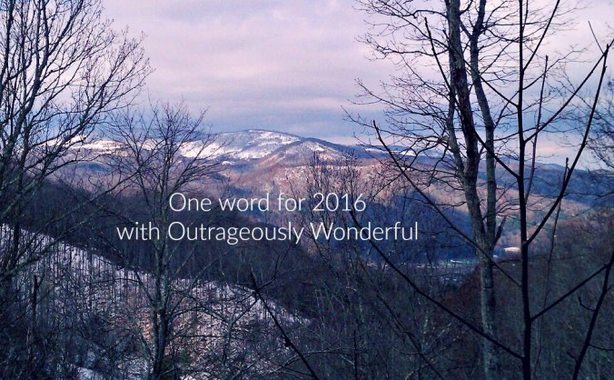 This year, I'm choosing one word. No list of things to do, but one word to remind myself who I am, whose I am and who I want to be. #oneword #2016