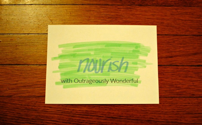 One word: Nourish. As I sat there I realized it wasn't my word at all. It was His word. And he whispered it to me. #oneword #2016 #nourish