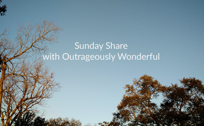 Sunday Share with Outrageously Wonderful Happy Sunday, dear friends! I hope you are having a wonderful weekend and are ready for the week ahead! This week's Sunday Share is all about friendship, art and food.