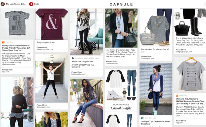I really like the way The Lazy Genious Collective is going about creating a capsule wardrobe. Identifying the types of clothes that should be included first makes so much sense to me. Looks like I'll be starting a new Pinterest board soon.