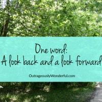 One word: A look back and a look forward