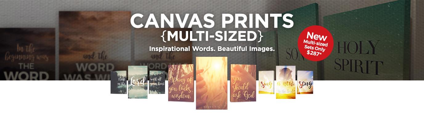 multi size canvas prints