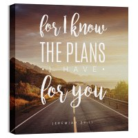 Inspirational Art Jeremiah 29:11 Canvas Print - Church ...