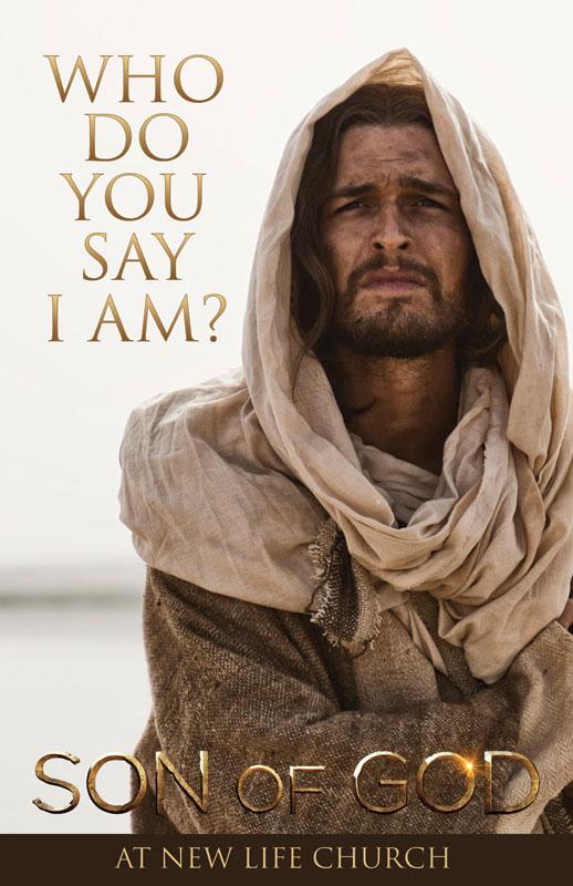 Son of God Who Do You Say I Am Postcard  Church Postcards  Outreach Marketing
