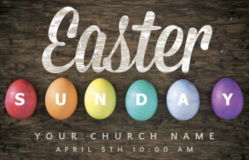 Easter Sunday Egg Postcard Church Postcards Outreach