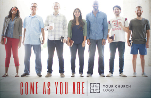 Come As You Are People Postcard Church Postcards