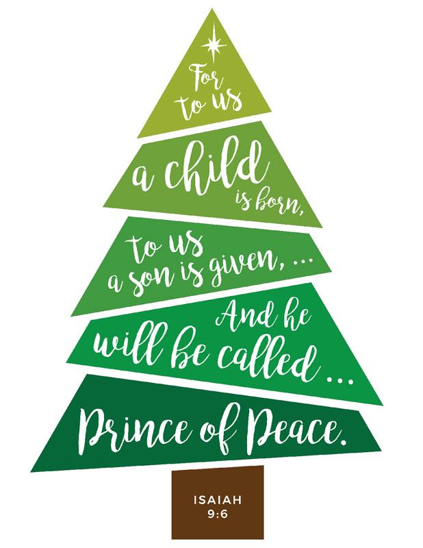 scripture christmas tree