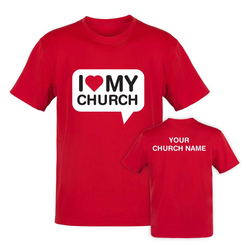 I Love My Church TShirt  Church Apparel  Outreach Marketing