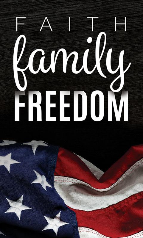 Faith Family Freedom Banner  Church Banners  Outreach Marketing