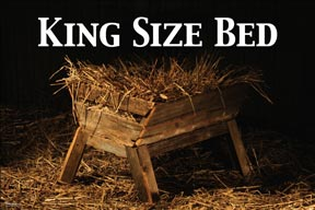 outreach media poster - king size bed