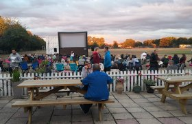 Surrey outdoor inflatable screen hire