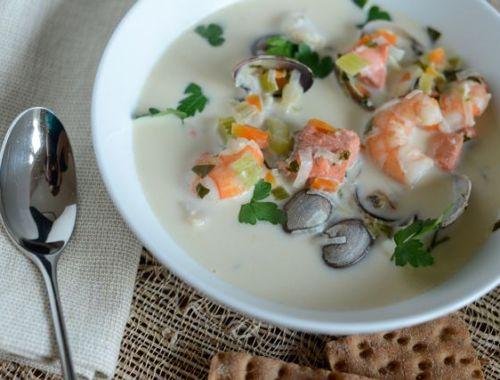 Bergen Fish Soup and Crispbread