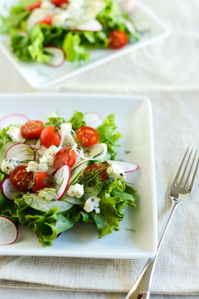 Danish Blue Cheese Salad Vertical