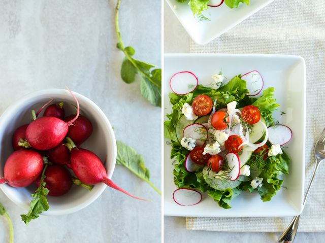 Radishes and Salad