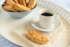 Swedish Rusks on Tray with Coffee