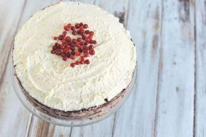 Chocolate Cake with Lingonberry Cream