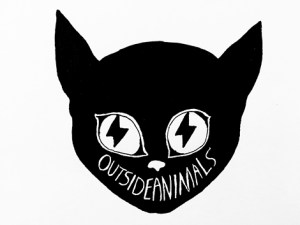 Outside Animals Cat Logo