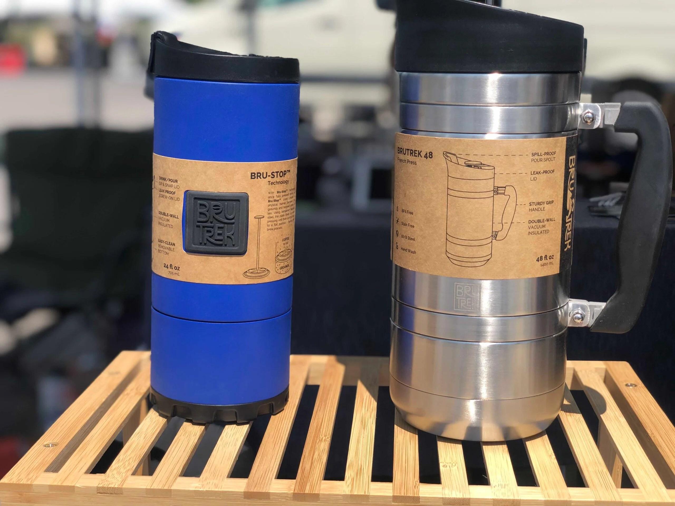 Two coffee mugs on display