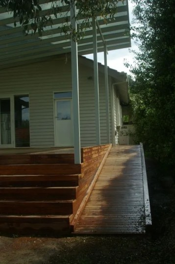 Front deck with access ramp by Outside Concepts Waverley