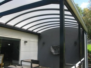 Curved roof over deck by Outside Concepts Launceston, Tasmania