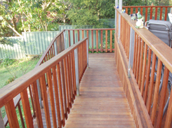 Rear deck with ramp by Outside Concepts Sydney West
