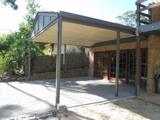 Side view of lined gable carport by Outside Concepts North East