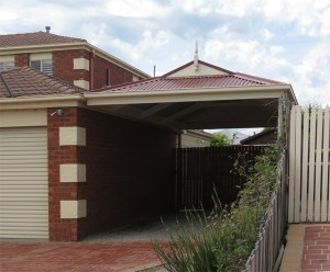 Dutch gable carport by Outside Concepts Geelong, Victoria