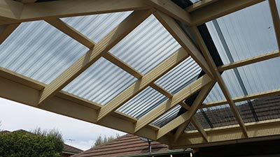 Dutch gable roof verandah by Outside Concepts Geelong