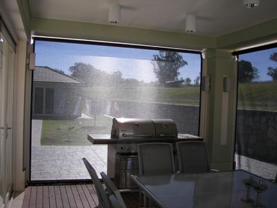 I can see you but you can't see me! Being able to see out while enjoying privacy is one of the advantages of Canberra outdoor blinds.
