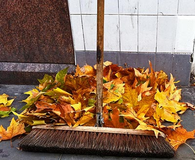 Cleaning autumn leaves from your timber decking is an ongoing exercise but a worthwhile one.