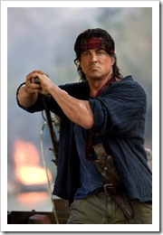 Rambo looking stoic