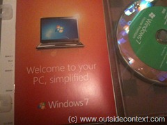 The Windows 7 Upgrade DVD