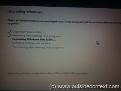 Windows 7 install screen