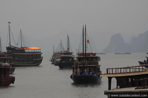 Traffic jam - boat style