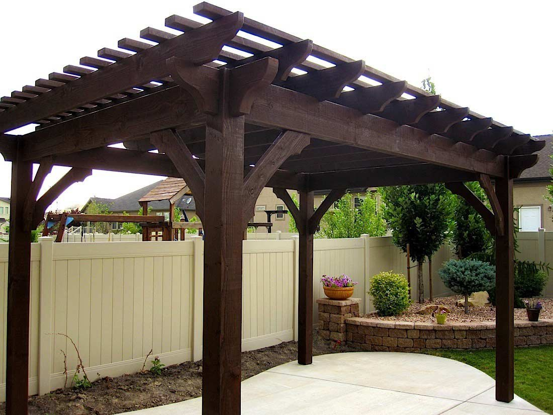 Cedar Pergola Kits Redwood Pergola Kits Outsidemodern