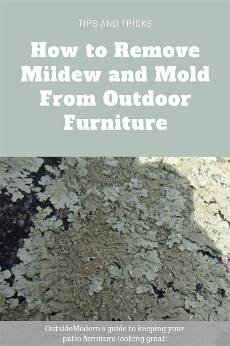 remove mildew from outdoor furniture