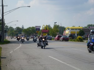 Bikers Riding Through Nappanee, Indiana In Honor Of 9/11