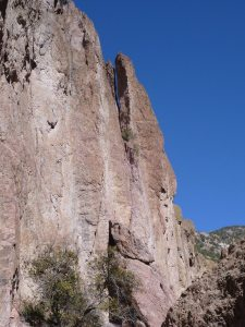 Some Of The Huge Cliff Walls Along The Catwalk Trail