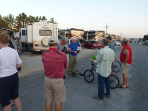 David Explaining The Quadcopter To The Other Campers