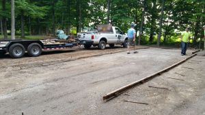 July 2015 - Leveled Off For A Concrete Patio