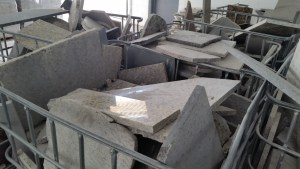 Granite Pieces Ready For Recycling