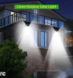 with three different modes the litom solar outdoor light is great for different use cases the medium light mode works like a simple timer mode  [ 1000 x 1000 Pixel ]