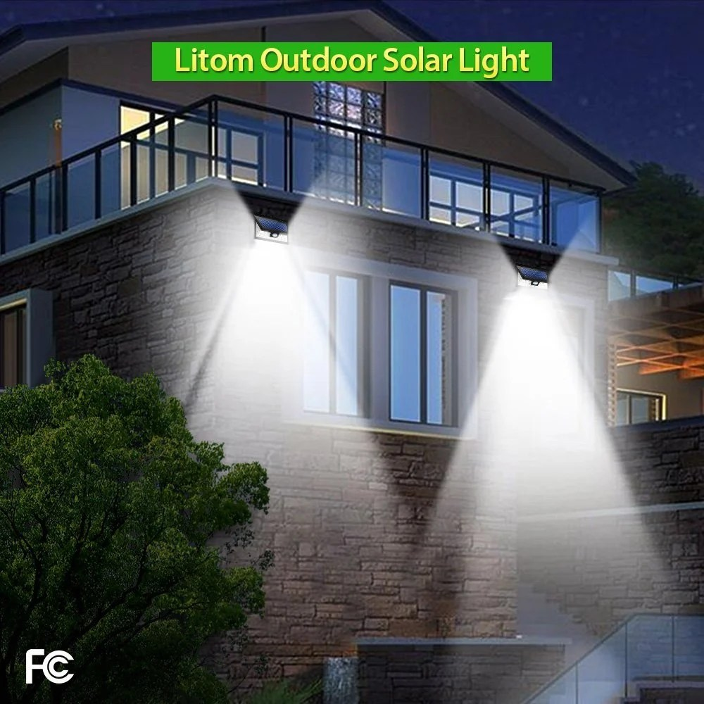 hight resolution of with three different modes the litom solar outdoor light is great for different use cases the medium light mode works like a simple timer mode
