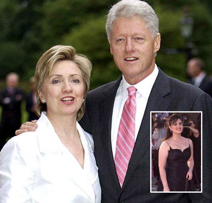 Bill, Hillary Clinton e Monica