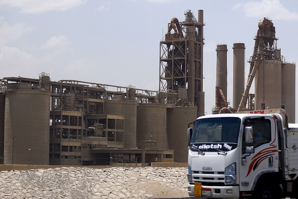 General view of the Tourah Portland Cement factory in Cairo