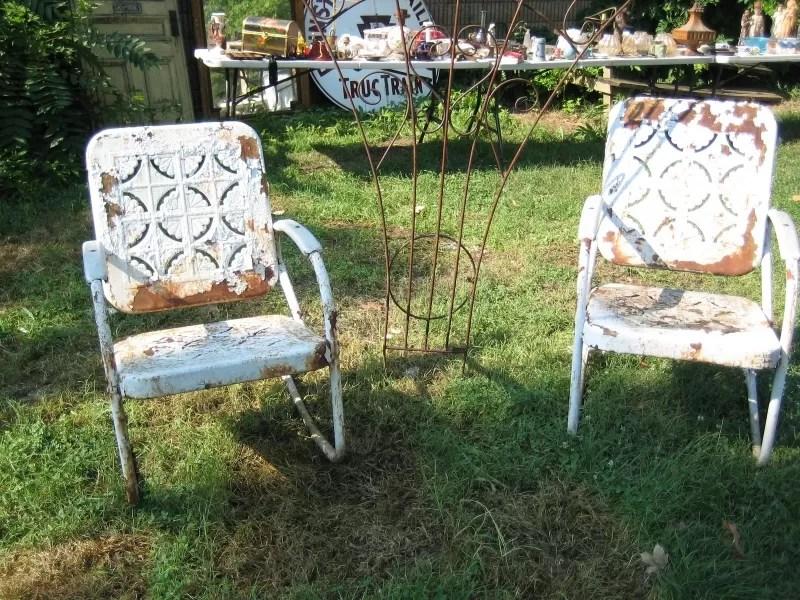 refinishing metal furniture outsiders